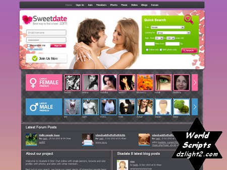 Skadate dating software nulled